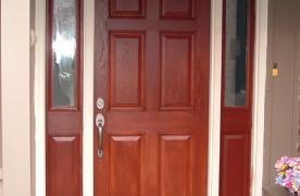 Therma Tru Front Door w/ Sidelites, Cherry Stain